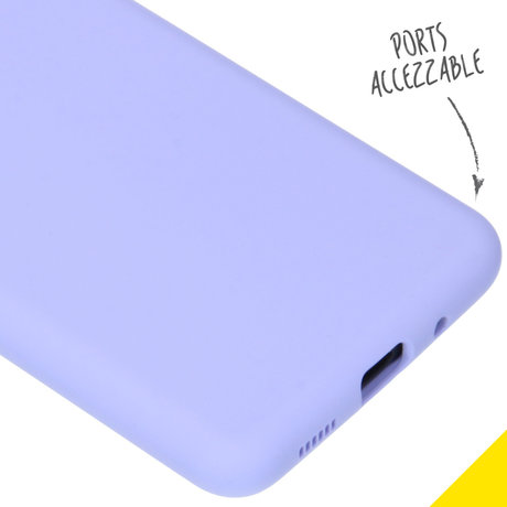 Accezz Liquid Silicone Backcover Samsung Galaxy S20 - Paars (D)