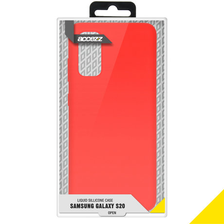 Accezz Liquid Silicone Backcover Samsung Galaxy S20 - Rood (D)