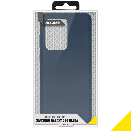 Accezz Liquid Silicone Backcover Samsung Galaxy S20 Ultra - Blauw (D)
