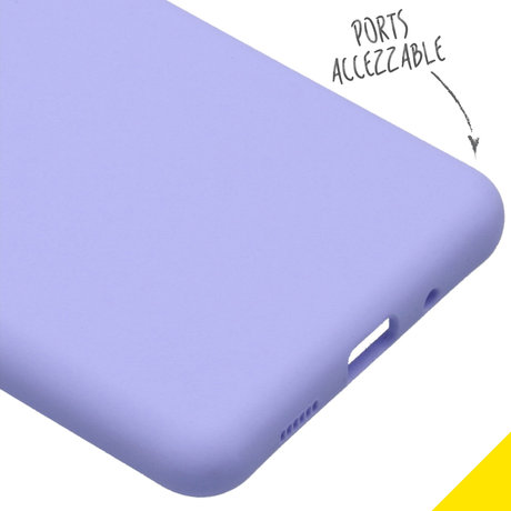 Accezz Liquid Silicone Backcover Samsung Galaxy S20 Ultra - Paars (D)