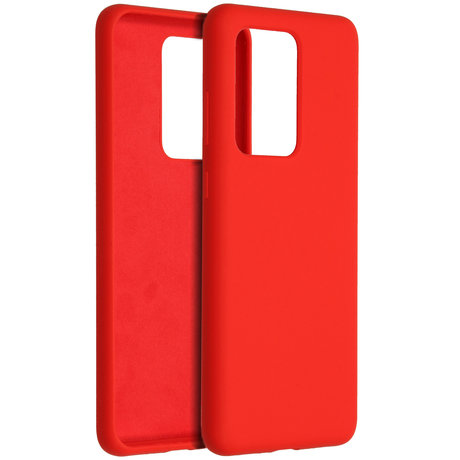 Accezz Liquid Silicone Backcover Samsung Galaxy S20 Ultra - Rood (D)