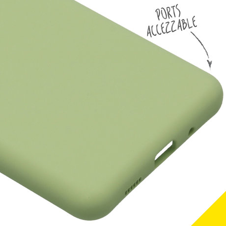 Accezz Liquid Silicone Backcover Samsung Galaxy S20 Ultra - Groen (D)