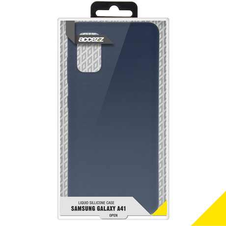 Accezz Liquid Silicone Backcover Samsung Galaxy A41 - Blauw (D)