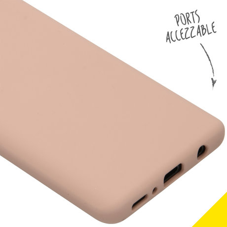 Accezz Liquid Silicone Backcover Samsung Galaxy A41 - Roze (D)