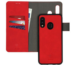 iMoshion iMoshion Uitneembare 2-in-1 Luxe Booktype Samsung Galaxy A20e - Rood (D)