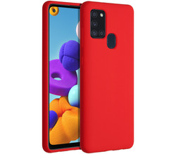 Accezz Accezz Liquid Silicone Backcover Samsung Galaxy A21s - Rood (D)