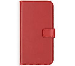 Selencia Selencia Echt Lederen Booktype Samsung Galaxy Note 10 Plus - Rood (D)