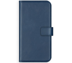 Selencia Selencia Echt Lederen Booktype Galaxy Note 10 Plus - Blauw (D)