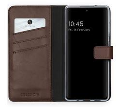 Selencia Selencia Echt Lederen Booktype Samsung Galaxy S20 FE - Bruin (D)