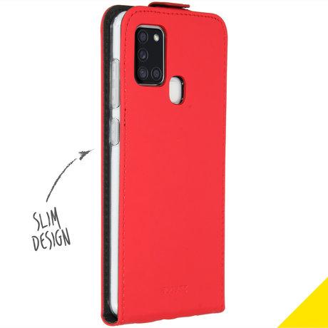Accezz Flipcase Samsung Galaxy A21s - Rood (D)