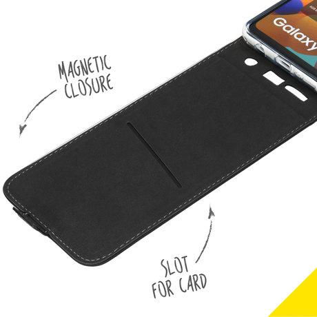 Accezz Flipcase Samsung Galaxy A21s - Zwart (D)