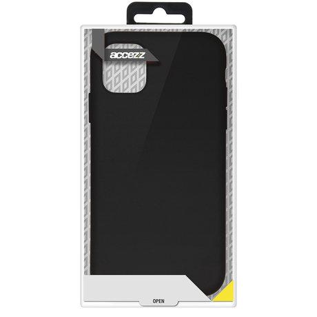 Accezz Liquid Silicone Backcover Samsung Galaxy S21 - Zwart (D)
