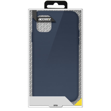 Accezz Liquid Silicone Backcover Samsung Galaxy S21 - Donkerblauw (D)