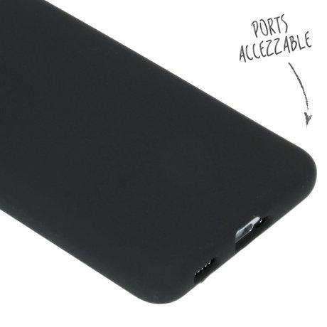 Accezz Liquid Silicone Backcover Samsung Galaxy S21 Plus - Zwart (D)