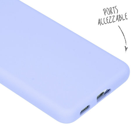 Accezz Liquid Silicone Backcover Galaxy S21 Plus - Paars (D)