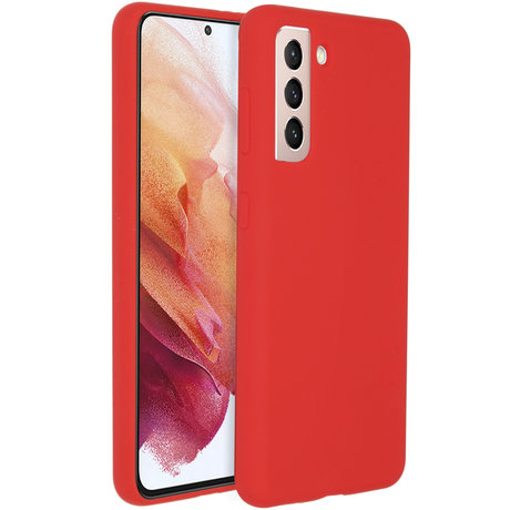 Accezz Liquid Silicone Backcover Galaxy S21 Plus - Rood (D)