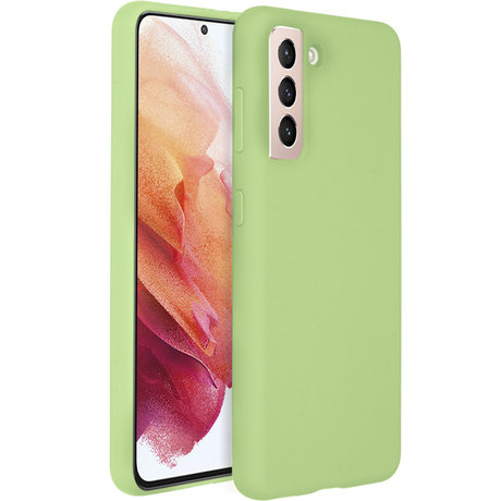 Accezz Liquid Silicone Backcover Galaxy S21 Plus - Groen (D)
