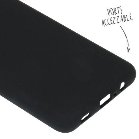 Accezz Liquid Silicone Backcover Samsung Galaxy A12 - Zwart (D)