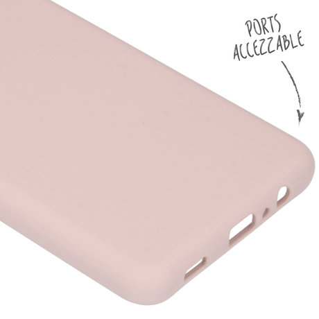 Accezz Liquid Silicone Backcover Samsung Galaxy A12 - Roze (D)