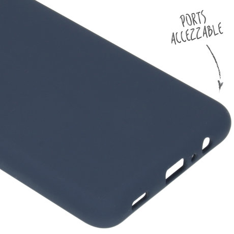 Accezz Liquid Silicone Backcover Samsung Galaxy A12 - Donkerblauw (D)