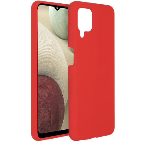 Accezz Liquid Silicone Backcover Samsung Galaxy A12 - Rood (D)