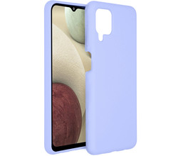 Accezz Accezz Liquid Silicone Backcover Samsung Galaxy A12 - Paars (D)