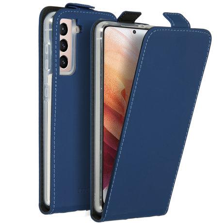 Accezz Flipcase Samsung Galaxy S21 - Donkerblauw (D)