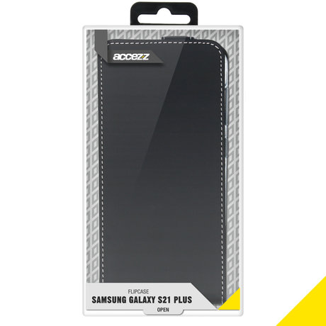 Accezz Flipcase Samsung Galaxy S21 Plus - Zwart (D)