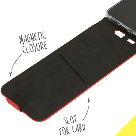 Accezz Flipcase Samsung Galaxy S21 - Rood (D)
