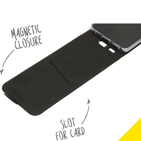 Accezz Flipcase Samsung Galaxy S21 Ultra - Zwart (D)