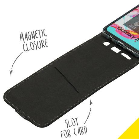 Accezz Flipcase Samsung Galaxy A70 - Zwart (D)