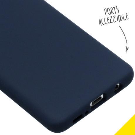 Accezz Liquid Silicone Backcover Samsung Galaxy S10 - Blauw (D)