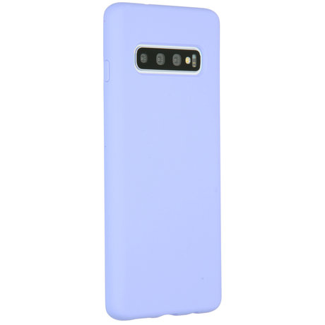 Accezz Liquid Silicone Backcover Samsung Galaxy S10 - Paars (D)