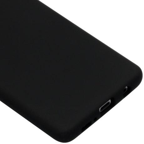 Accezz Liquid Silicone Backcover Samsung Galaxy S10 Plus - Zwart (D)
