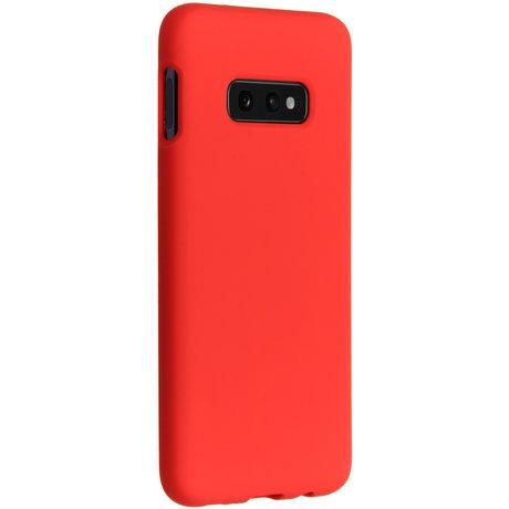 Accezz Liquid Silicone Backcover Samsung Galaxy S10e - Rood (D)