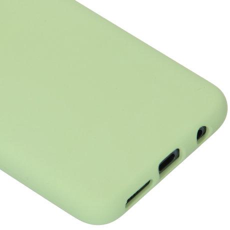 Accezz Liquid Silicone Backcover Samsung Galaxy S10e - Groen (D)