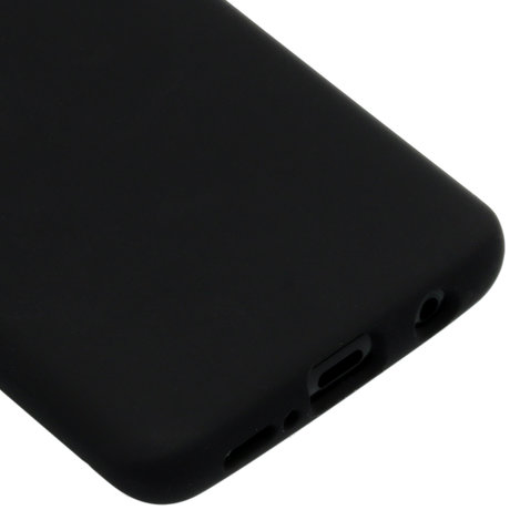 Accezz Liquid Silicone Backcover Samsung Galaxy S9 - Zwart (D)