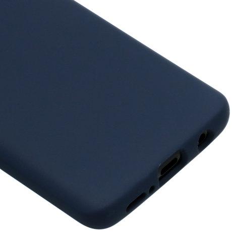 Accezz Liquid Silicone Backcover Samsung Galaxy S9 - Blauw (D)