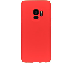 Accezz Accezz Liquid Silicone Backcover Samsung Galaxy S9 - Rood (D)