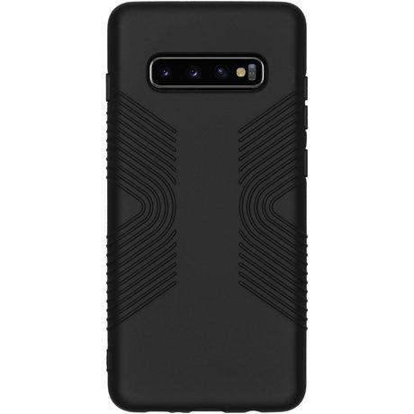 Accezz Impact Grip Backcover Samsung Galaxy S10 Plus - Zwart (D)