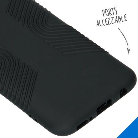 Accezz Impact Grip Backcover Samsung Galaxy A40 - Zwart (D)