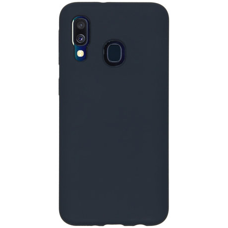 Accezz Liquid Silicone Backcover Samsung Galaxy A40 - Blauw (D)