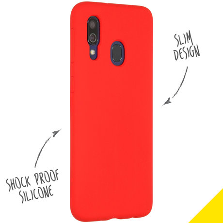 Accezz Liquid Silicone Backcover Samsung Galaxy A40 - Rood (D)