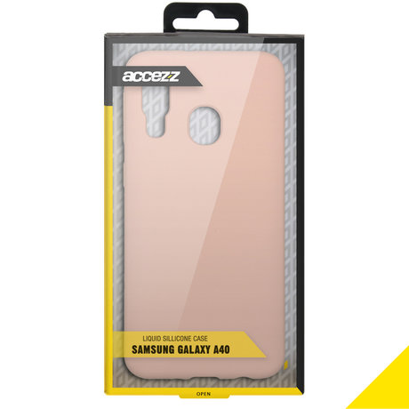 Accezz Liquid Silicone Backcover Samsung Galaxy A40 - Roze (D)