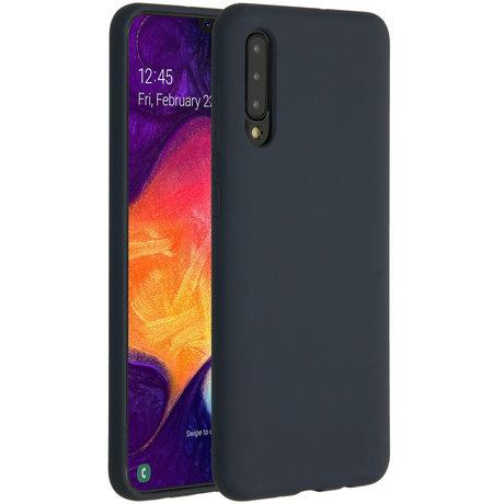 Accezz Liquid Silicone Backcover Samsung Galaxy A50 / A30s - Blauw (D)