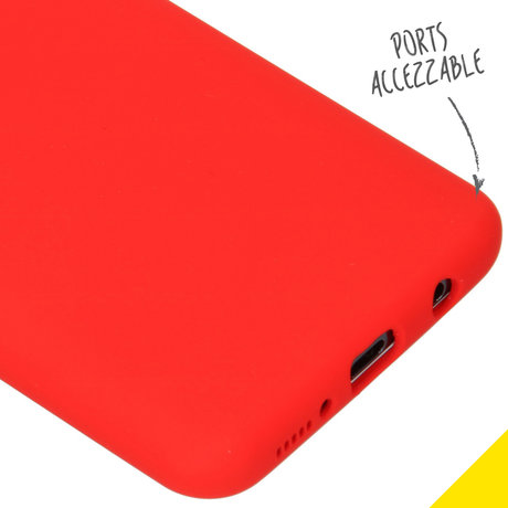 Accezz Liquid Silicone Backcover Samsung Galaxy A50 / A30s - Rood (D)