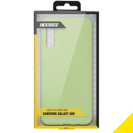 Accezz Liquid Silicone Backcover Samsung Galaxy A50 / A30s - Groen (D)