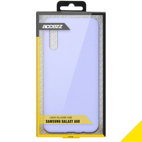Accezz Liquid Silicone Backcover Samsung Galaxy A50 / A30s - Paars (D)