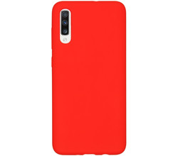 Accezz Accezz Liquid Silicone Backcover Samsung Galaxy A70 - Rood (D)