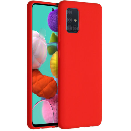 Accezz Liquid Silicone Backcover Samsung Galaxy A51 - Rood (D)
